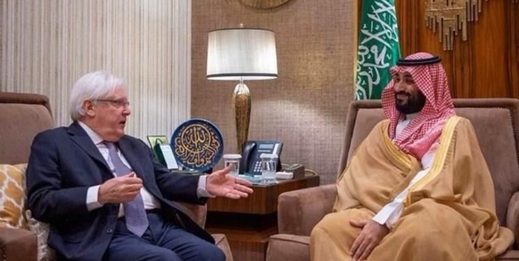 دیدار نماینده سازمان ملل در یمن با محمد بن سلمان