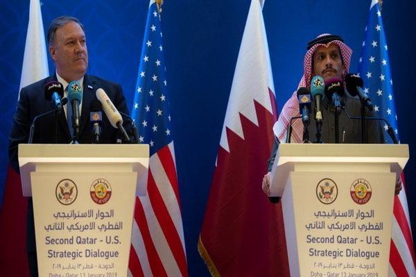 وزیران خارجه آمریکا و قطر ملاقات کردند