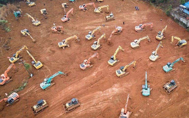 ساخت بیمارستان در 10 روز؛ کار شبانه روزی چینی ها برای کنترل کرونا