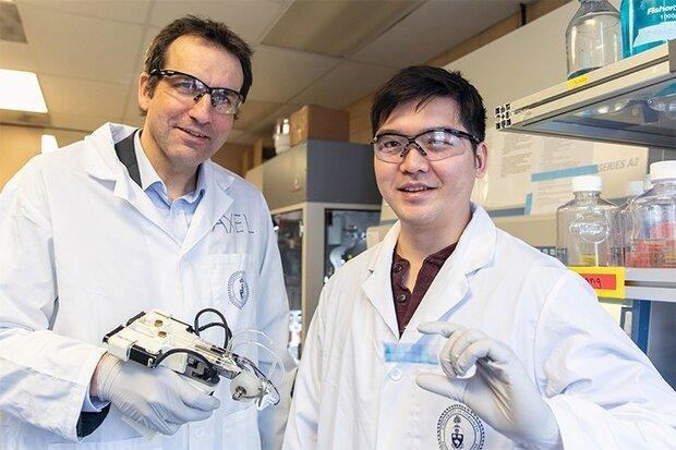 چاپ ورقه های سلول بنیادی روی پوست برای درمان سوختگی عمیق