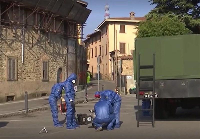 کارشناسان نظامی روسیه 3 شهر ایتالیا را ضدعفونی کردند