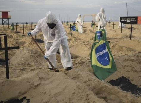 کرونا در دنیا، ابتلاء 41000 برزیلی در24ساعت گذشته، گورکن ها مشغول کارند!