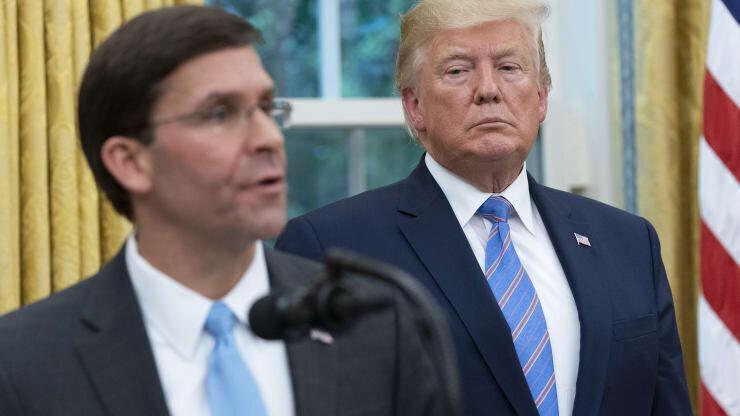 رئیس پنتاگون از مخالفت با اعزام نیرو به واشنگتن صرف نظر کرد، بوی استعفا می آید؟