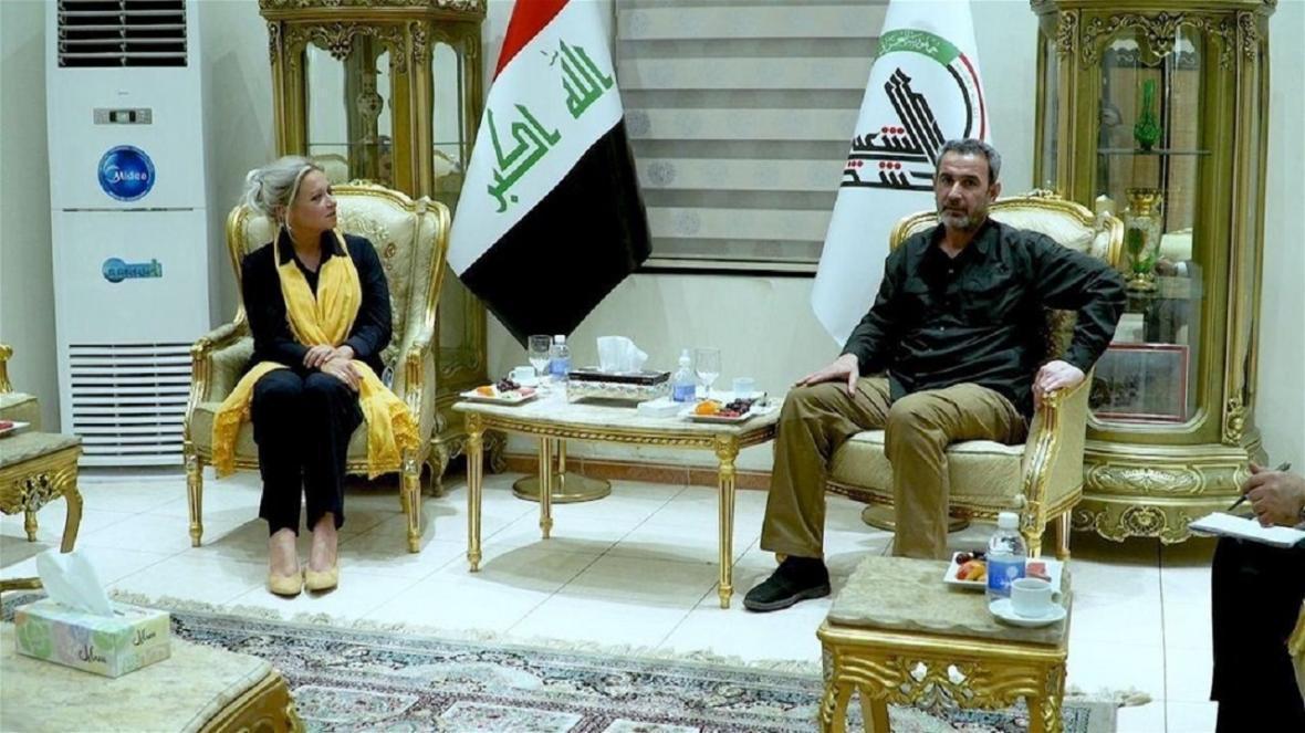 دیدار نماینده سازمان ملل در عراق با رئیس ستاد الحشد الشعبی