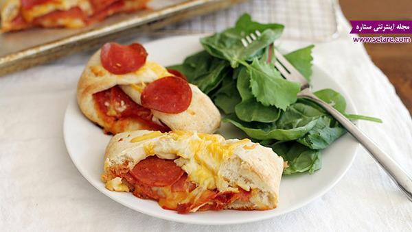 طرز تهیه پیتزا پپرونی بافته شده