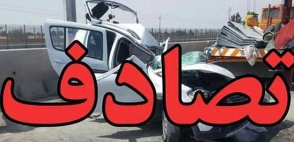 یک کشته و 4 مصدوم در برخورد پژو 405 با سواری اپتیما در محور یاسوج-اصفهان