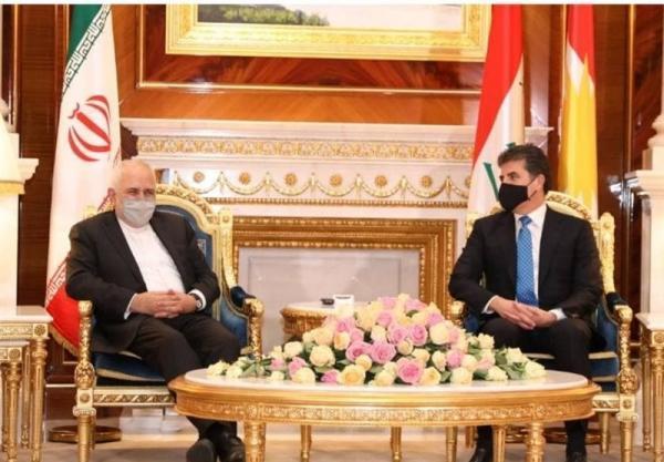 ظریف با رئیس اقلیم کردستان عراق ملاقات کرد